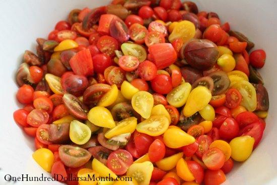 tomatoes cut