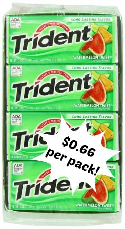 trident gum coupons