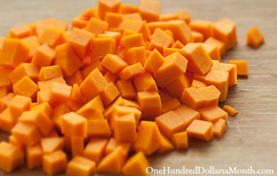 chopped pumpkin