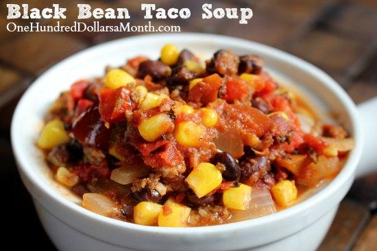 Easy Freezer Meals - Black Bean Taco Soup