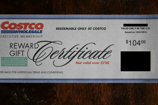 costco rewards rebate