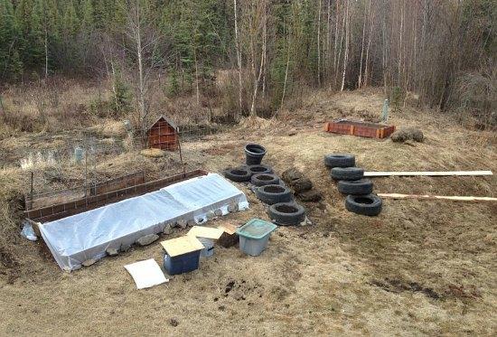 garden beds tires