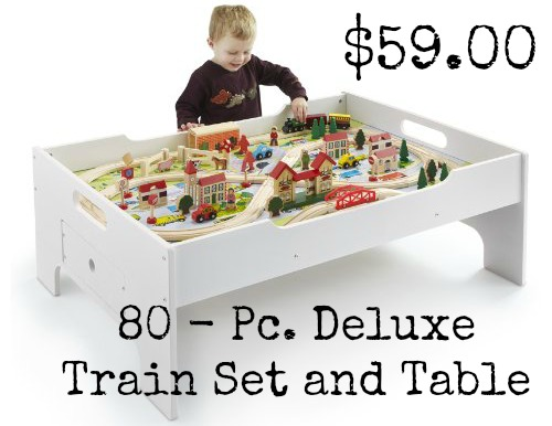 80 - Pc. Deluxe Train Set and Table