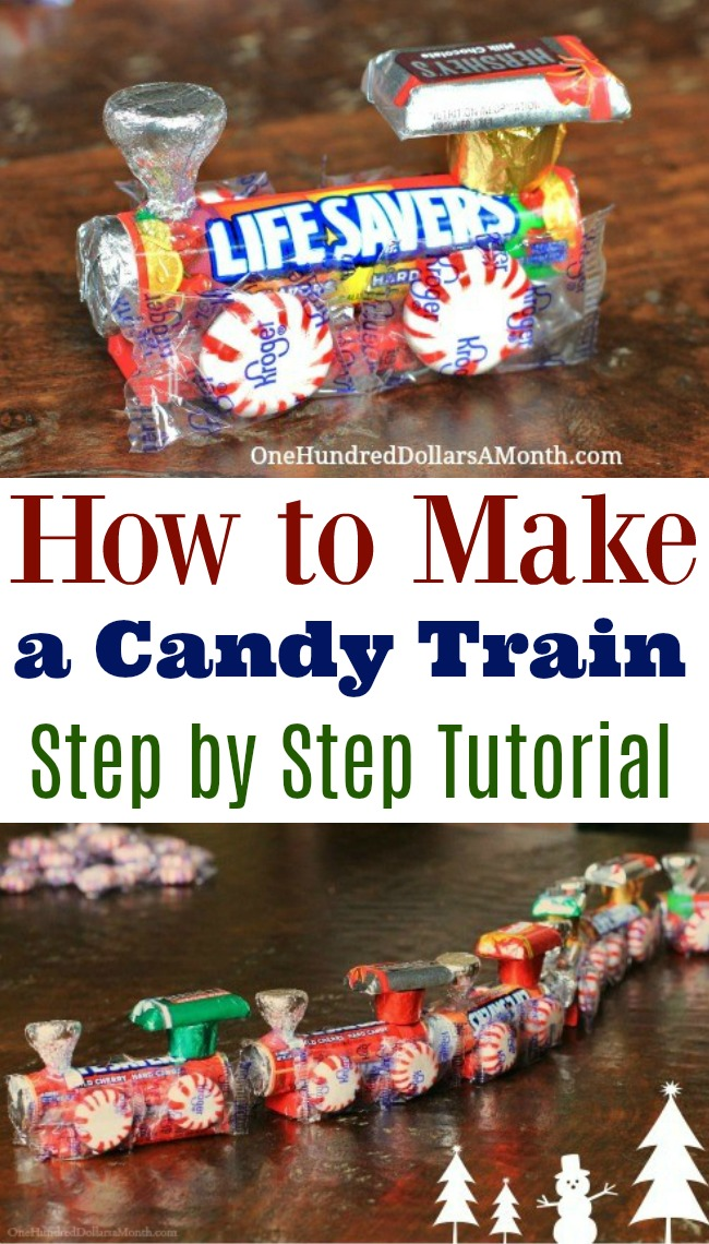 how to make a candy train easy kids christmas crafts one hundred dollars a month. Black Bedroom Furniture Sets. Home Design Ideas