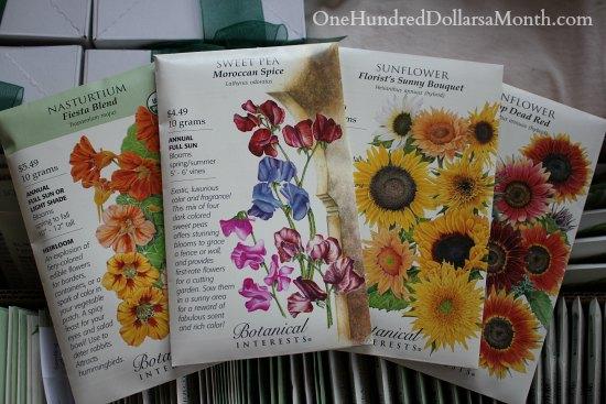 botanical interests flower seeds