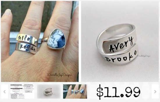 handstamped rings