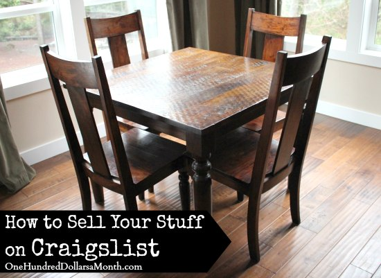 How to Sell Your Stuff on Craigslist