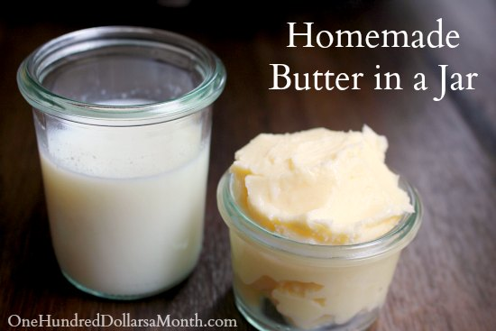 Homemade Butter in a Jar - Easy Kids Projects