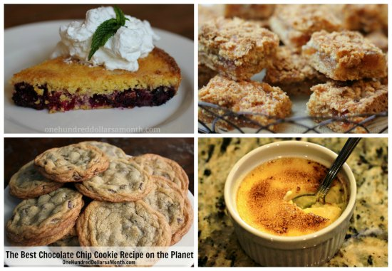 Weekly Meal Plan desserts