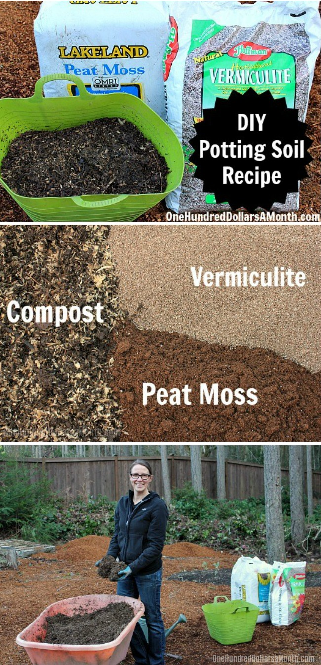 Diy How To Make Your Own Potting Soil One Hundred Dollars A Month