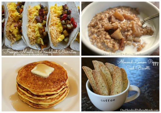 Weekly Meal Plan - Menu Plan Ideas breakfast