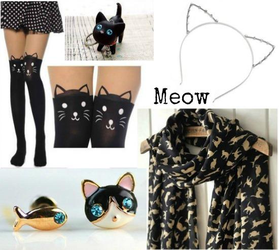 black cat accessories