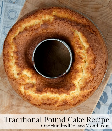 Traditional Pound Cake Recipe