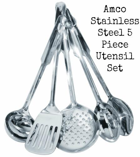 Amco Stainless Steel 5-Piece Utensil Set