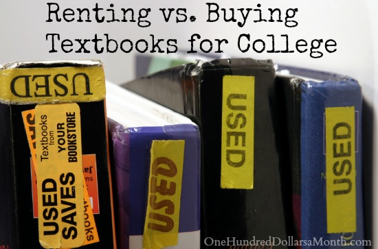 Renting vs. Buying Textbooks for College