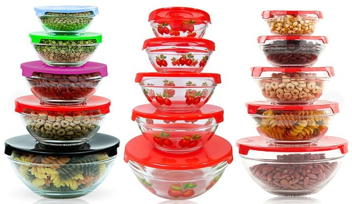 glass nesting bowls with lids