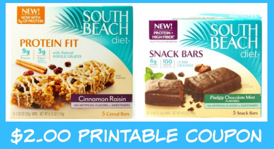 south beach diet bars coupon