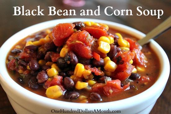 Easy-Crock-Pot-Recipes-Black-Bean-and-Corn-Soup