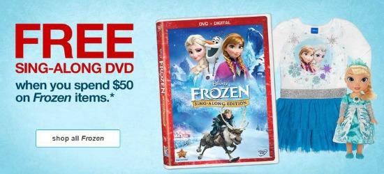 free frozen sing along dvd