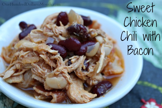 Sweet Chicken Chili with Bacon