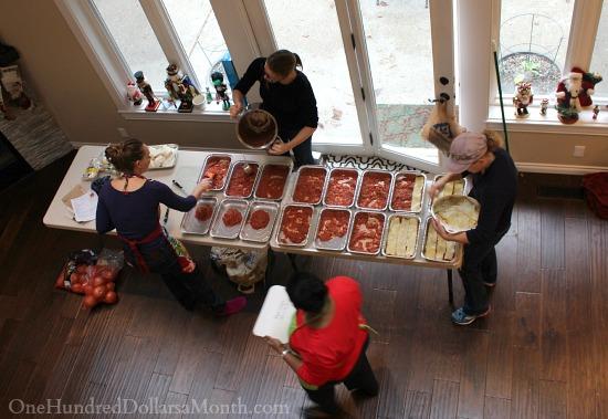 freezer meal assembly line