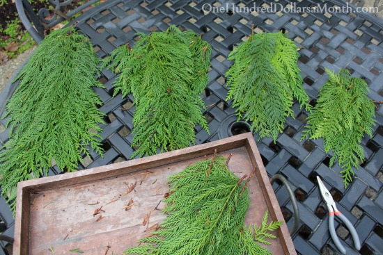 make a cedar garland from scratch