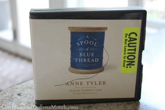a spool of blue thread audiobook