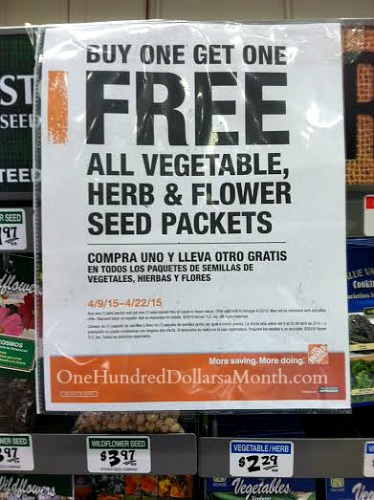 home depot seed packets