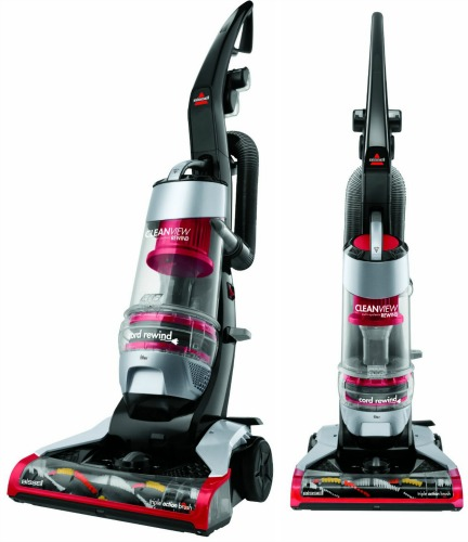 BISSELL CleanView Plus Rewind Bagless Upright Vacuum with Triple Action Brush