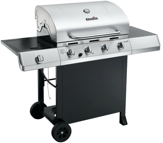 Char-Broil Classic 480 40000 BTU 4-Burner Gas Grill with Side Burner