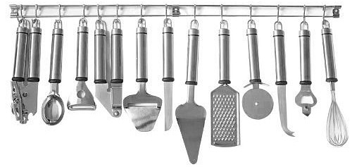 HomeStart 13-Piece Stainless Steel Tool and Gadget Set