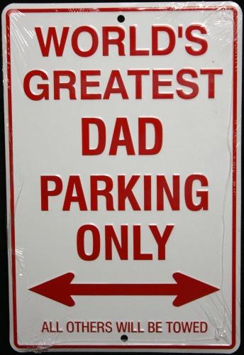 worlds greatest dad parking