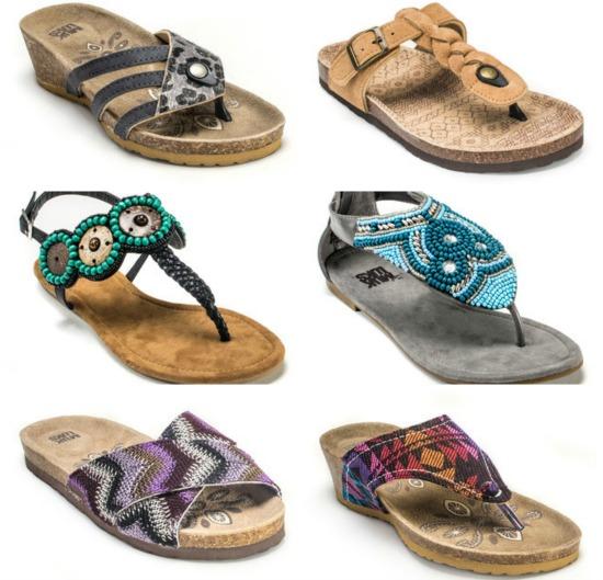 muk luck sandals