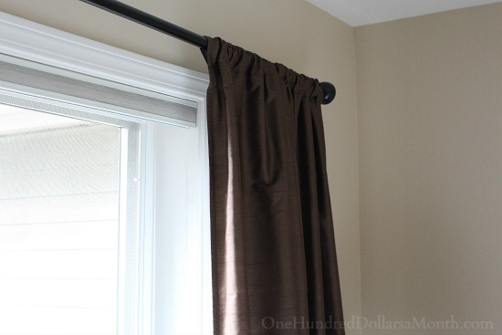 pottery barn brown curtains
