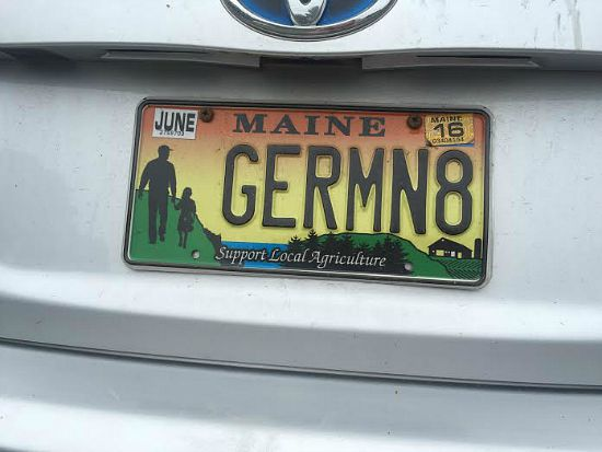 germinate licence plate maine
