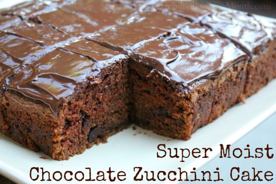 Super Moist Chocolate Zucchini Cake
