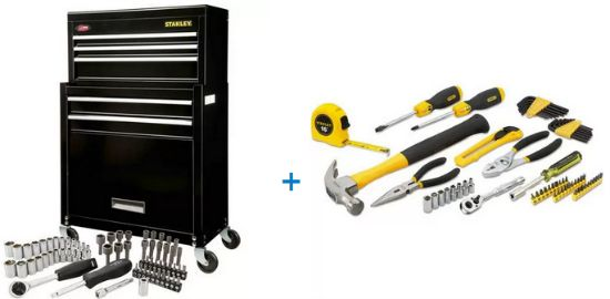 stanley rolling tool box kit