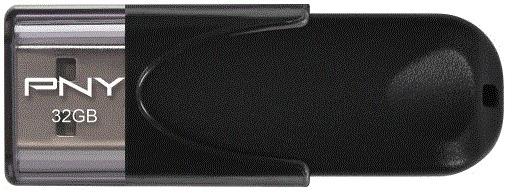 PNY - Attache 4 32GB USB Flash Drive - Black
