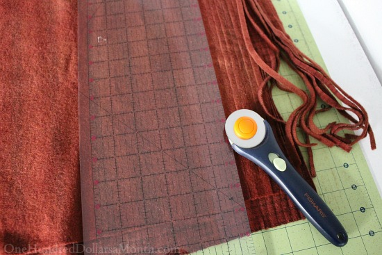 cutting strips for rug hooking