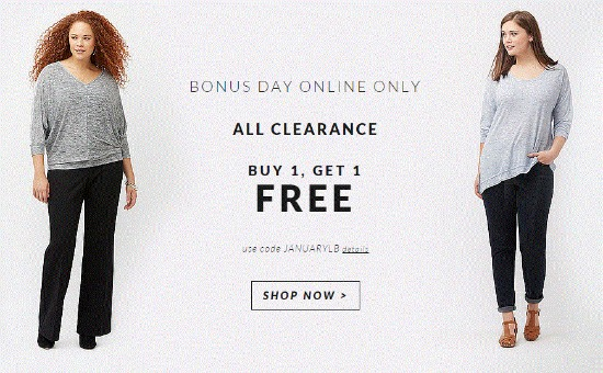buy 1 get 1 lane bryant sale