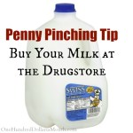 Penny Pinching Tip – Buy Your Milk at the Drugstore
