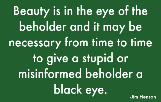 quotes - beauty is in the eye
