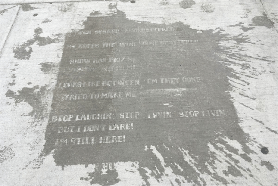 boston sidewalk poem