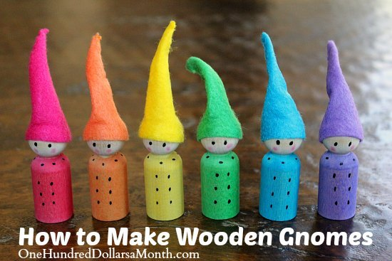 Easy-Crafts-for-Kids-wooden-gnomes