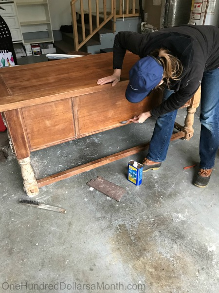 How To Strip Wood Furniture Using Citri Strip Paint And Varnish Stripping Gel One Hundred Dollars A Month