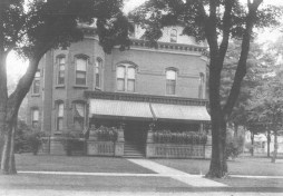 Chapman House (c. 1920s) This house at 218 Broad Street was first built for B. F. Chapman in 1880. He was a lawyer who moved to Oneida from Clockville. He also operated a hosiery mill on the property. It was sold and became the Odd Fellows Lodge before being turned into apartments in 1940. (Courtesy Madison County Historical Society, #82.76C)