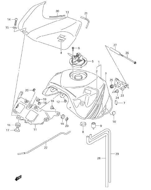 2006 Gsxr 750 Parts Diagram