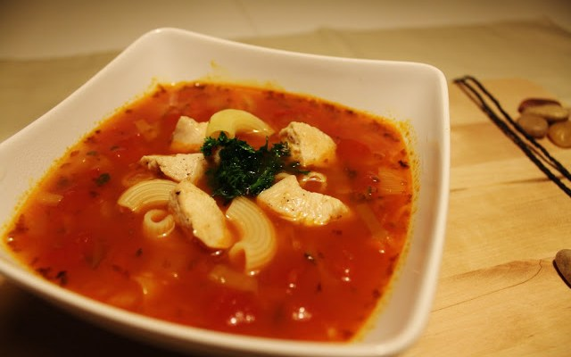 Minestronesuppe Med Kylling