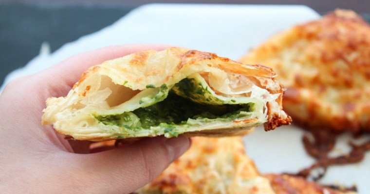 Puff Pastry With A Creamy Spinach Filling