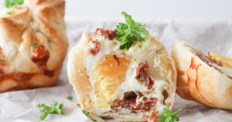 Butterdej, Æg Og Bacon Muffins